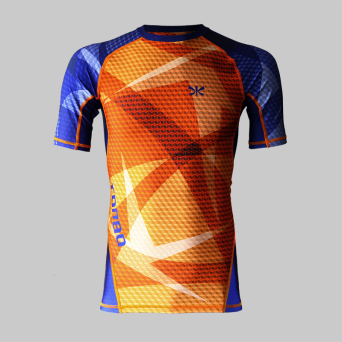 rashguard ORANGE QUBE short sleeve