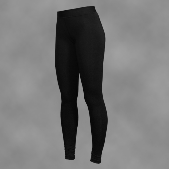 woman's leggings BLACK-SIMPLE