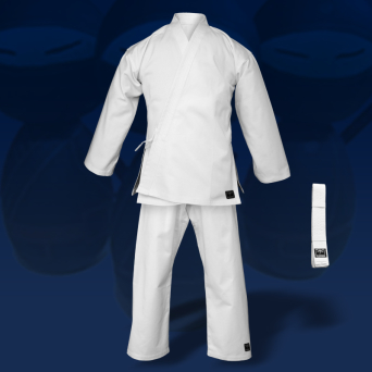 karate gi TONBO - JUNIOR, white, 9oz (with white belt)
