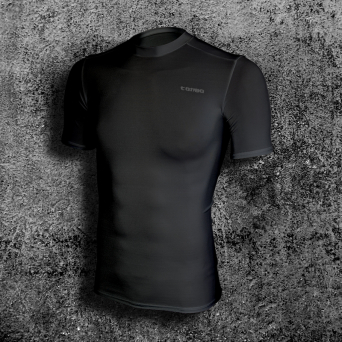 rashguard, short sleeve, black