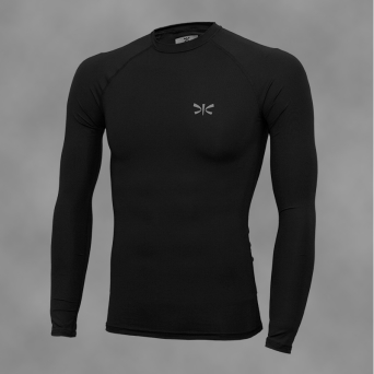 man rashguard BLACK-REG, long sleeve