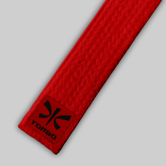 red basic belt (4cm, cotton)