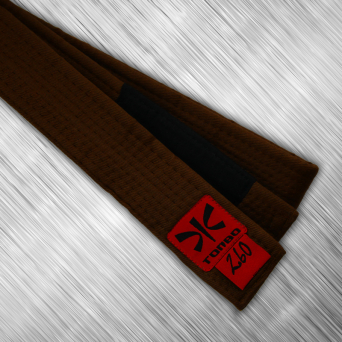 jiu-jitsu brown belt with black panel, 4cm