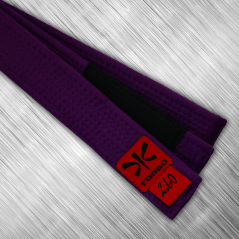 jiu-jitsu purple belt with black panel, 4cm