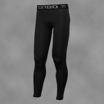 man's leggings BLACK-SIMPLE