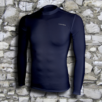 rashguard, long sleeve, navy blue