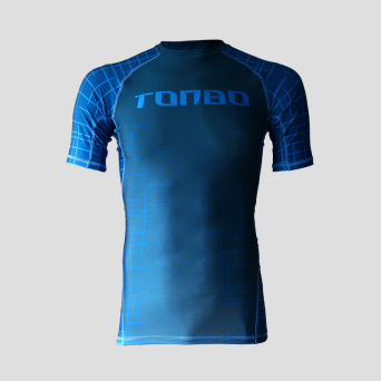rashguard GEOMETRY BLUE short sleeve