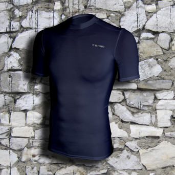 rashguard, short sleeve, navy blue