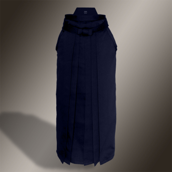 heavy rayon-polyester hakama (navy blue, rayon-polyester)