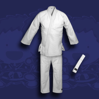 judo gi TONBO - JUNIOR, white, 350g/m2 (with white belt)