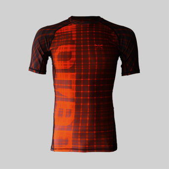 rashguard RED short sleeve