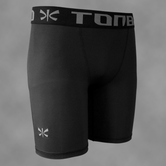 man's compression shorts BLACK-SIMPLE
