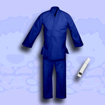 judo gi TONBO - JUNIOR, blue, 350g/m2 (with white belt)