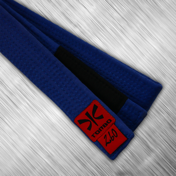 jiu-jitsu blue belt with black panel, 4cm
