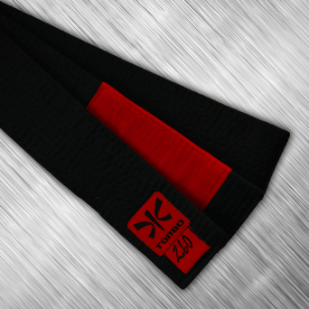 jiu-jitsu black belt with red panel, 5cm